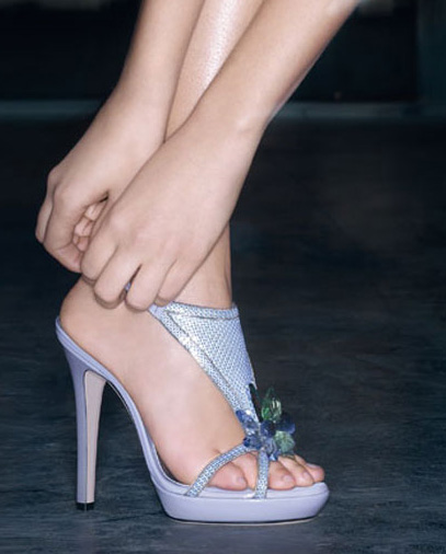 Lilac sandal metal leather Versace Summer 09