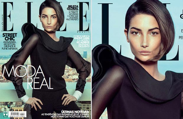 Lily Aldridge Is Back: Elle Brazil April 2013