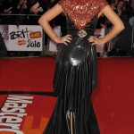 Lily Allen Chanel black dress Brit Awards 2010 1