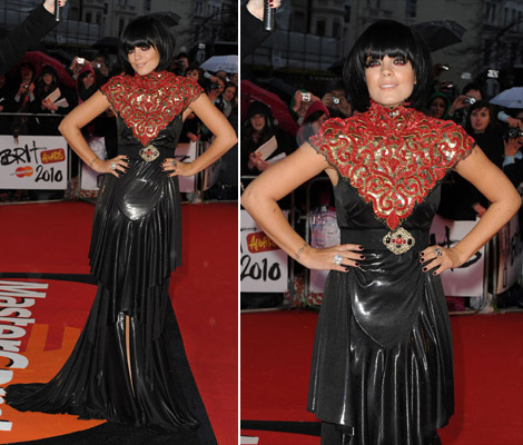 Lily Allen Chanel black dress Brits 2010