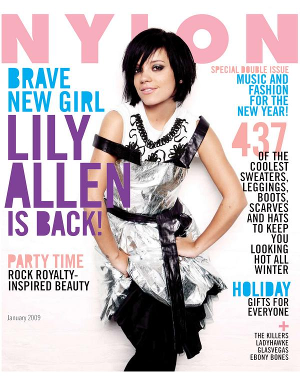 Lily Allen Nylon Magazine December January 2008 2009 cover large
