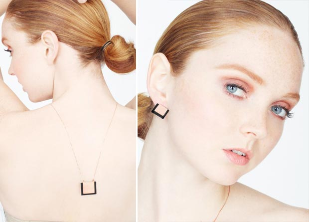 Lily Cole Jewelry rubber earrings necklace