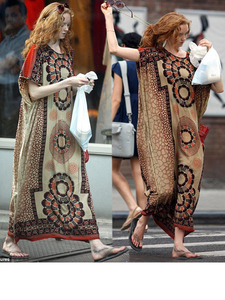 Lily Cole Ethnic Kaftan Look