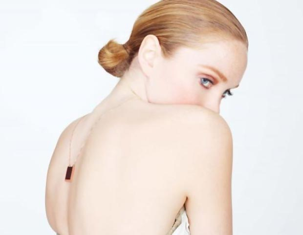 Lily Cole rubber jewelry necklace