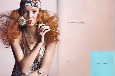 Lily Cole Tiffany Co Ads
