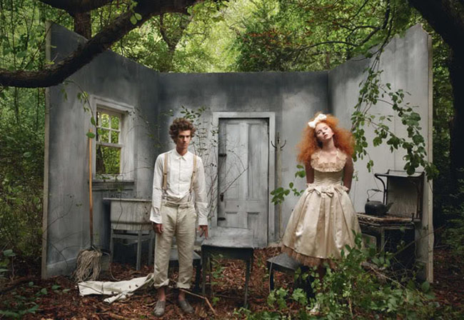 Lady Gaga's Hansel And Gretel By Leibovitz, Vogue December 2009