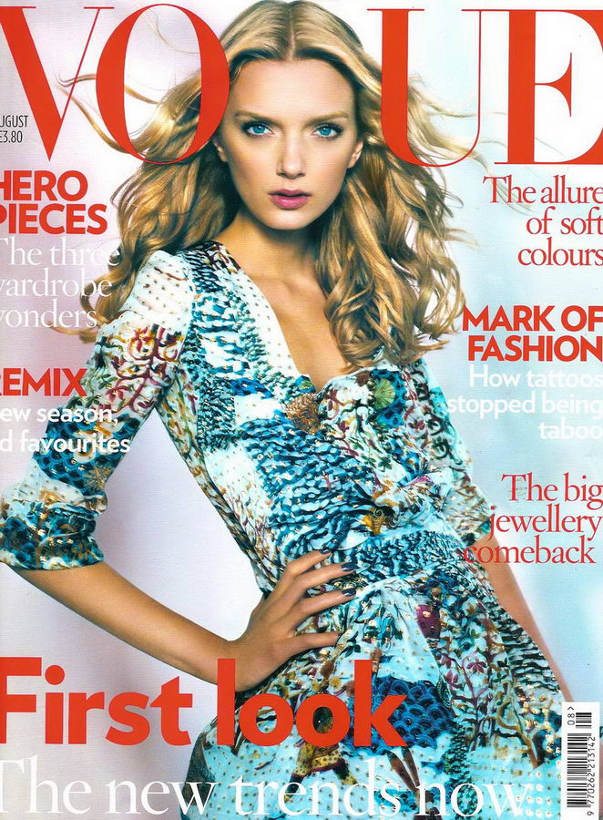 Lily Donaldson UK Vogue August 2008 Cover