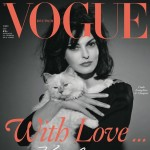 Linda Evangelista Lagerfeld s cat Vogue Germany July 2013