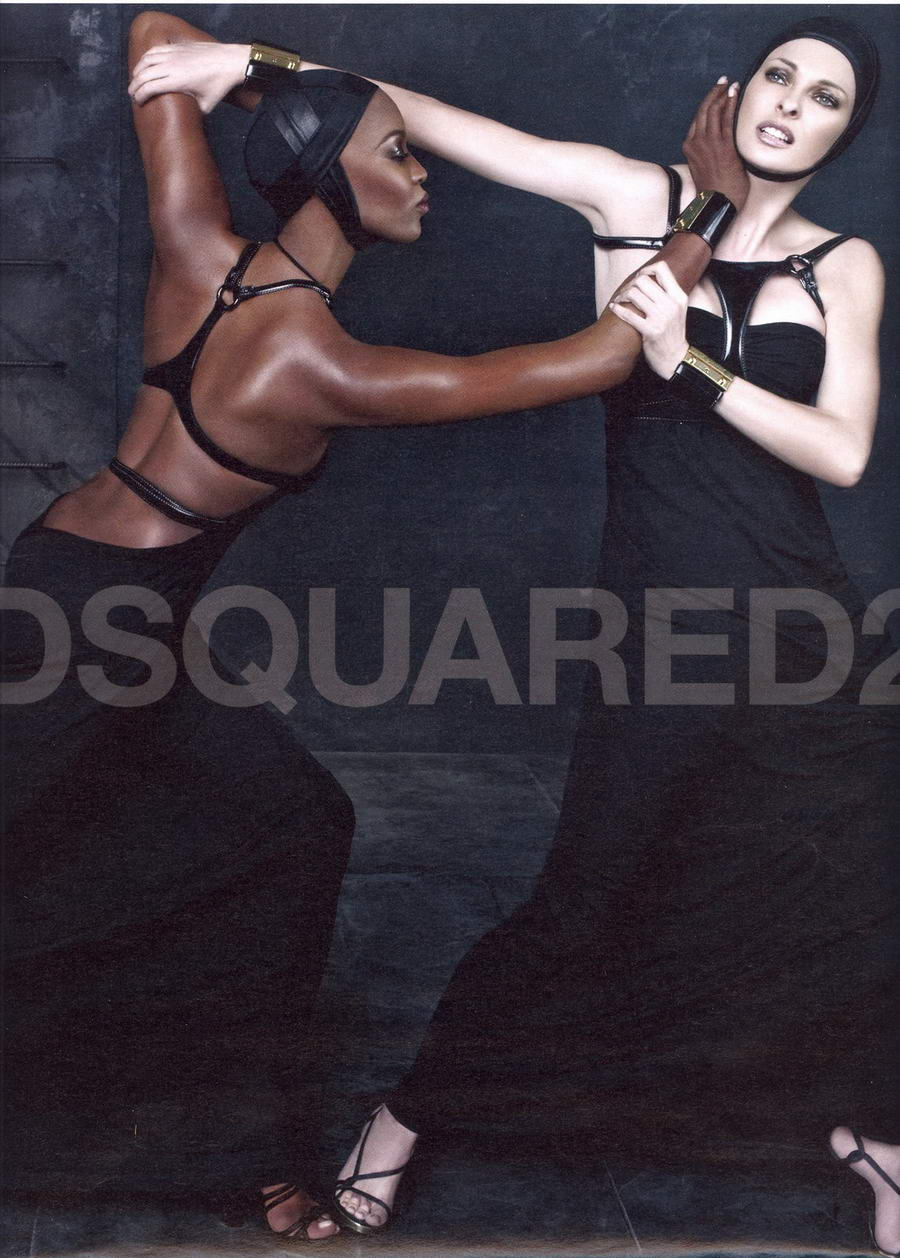 Linda Evangelista Naomi Campbell DSquared 2 Spring Summer 2009 ad campaign 3