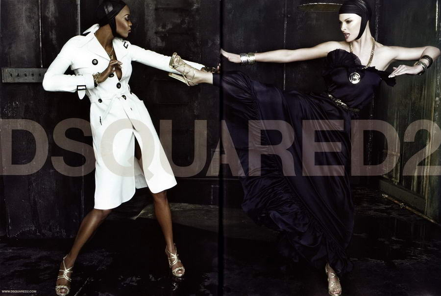 Linda Evangelista Naomi Campbell DSquared 2 Spring Summer 2009 ad campaign 4