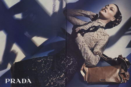 Another Ad Print With Linda Evangelista For Prada FW 2008 2009