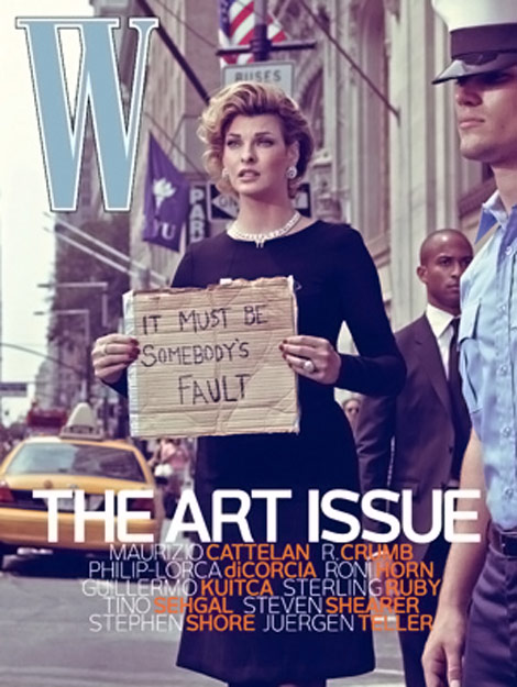 Linda Evangelista In W's Art Issue, November 2009