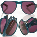 Linda Farrow Tim Hamilton foldable sunglasses blue