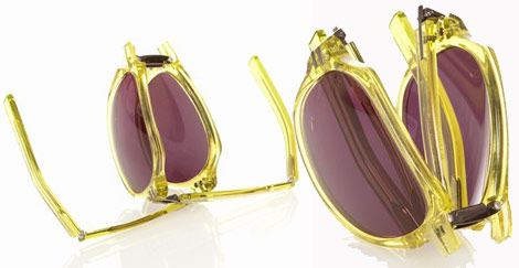 Linda Farrow Tim Hamilton foldable sunglasses yellow