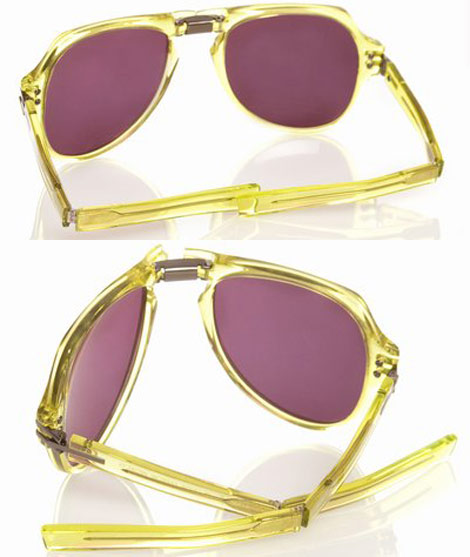 Linda Farrow Tim Hamilton foldable sunglasses