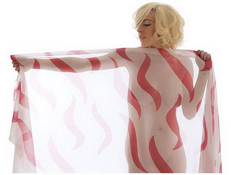 Lindsay Lohan as Marilyn Monroe for The Last Sitting - pink scarf