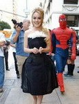 Lindsay Lohan Black Dress Large