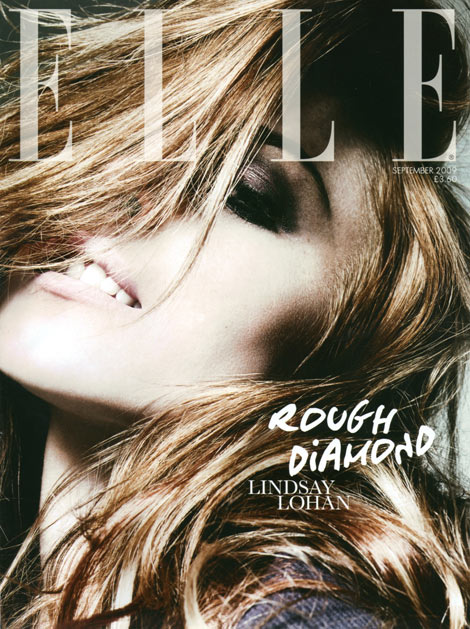 Lindsay Lohan Elle UK September 2009 Rankin cover