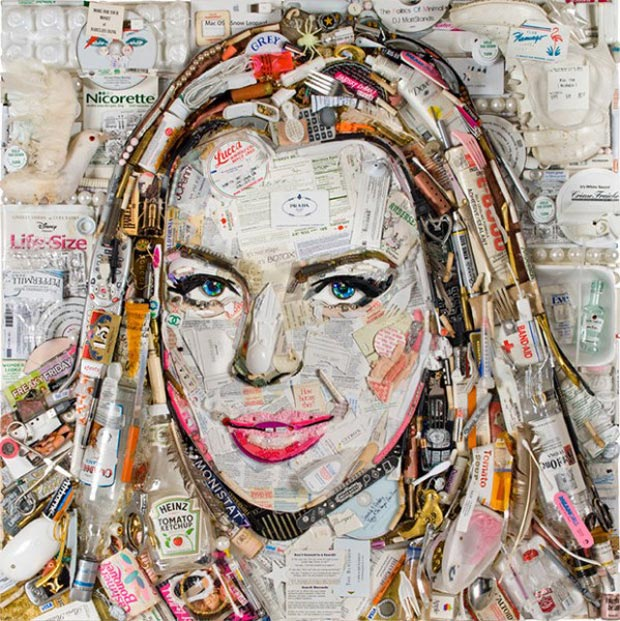 Lindsay Lohan outstanding portrait from trash