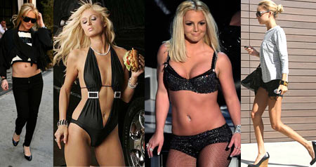 Lindsay Lohan, Paris Hilton, Britney Spears, Nicole Richie
