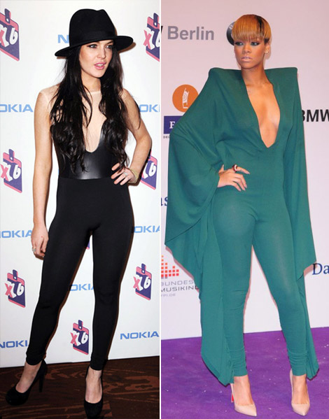 The Jumpsuit Face Off Rihanna Vs Lindsay Lohan