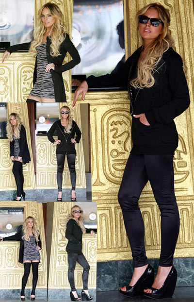 Lindsay Lohan Shiny Leggings Collection