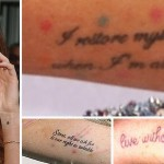 Lindsay Lohan Tattoos Marilyn Monroe quotes - StyleFrizz ...