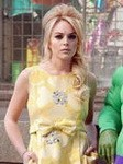 Lindsay Lohan Yellow Dress