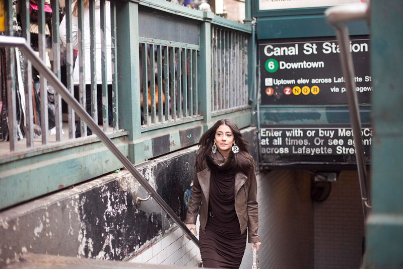 Models Take The Subway. Lindsey Calla