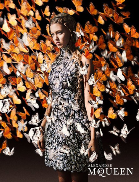 Lindsey Wixson Alexander McQueen Spring Summer 2011 ad campaign