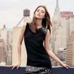 little black dress edgy Mango Miranda Kerr
