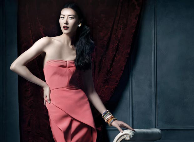Liu Wen Tiffany Co 2013 Ad campaign