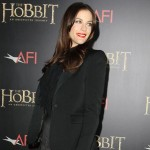 Liv Tyler black Givenchy outfit The Hobbit premiere