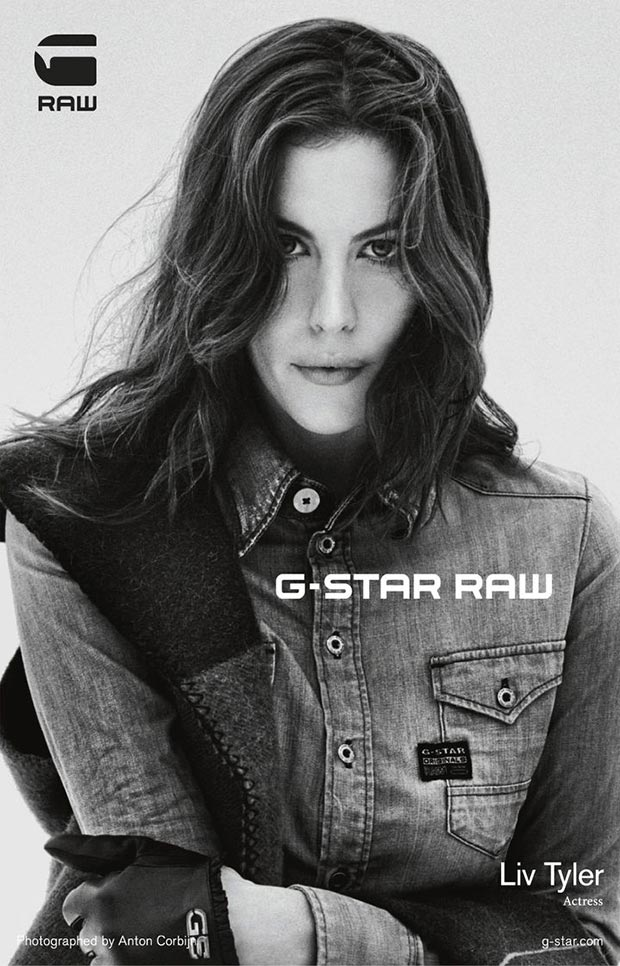 Liv Tyler G Star raw denim ad campaign 5