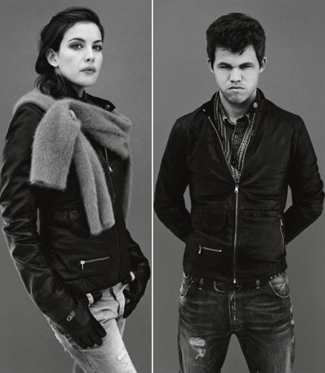 Liv Tyler And Magnus Carlsen For G-Star Raw's Fall 2010 Ad Campaign