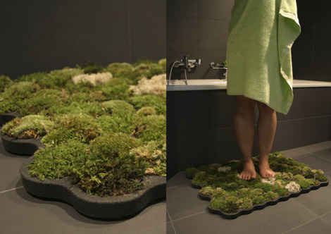 Could you use a living moss carpet or a fragrant swing for Moss shower mat