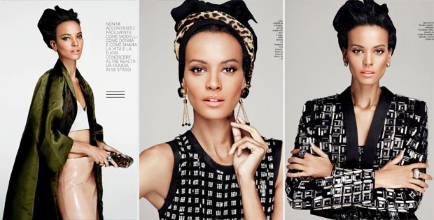 Bleaching Fashion: Liya Kebede Amica April 2013