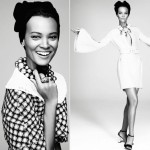 Liya Kebede bleached Amica April 2013 black and white pictorial