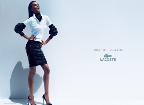 Liya Kebede Lacoste Unconventional Chic ad campaign 2011