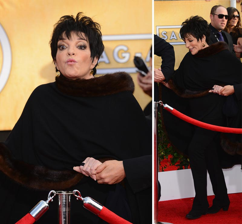 Liza Minelli dressed in black 2014 SAG Awards