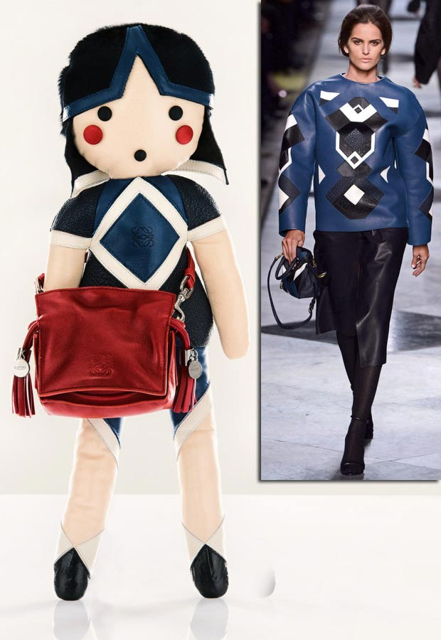 Loewe doll for Unicef inspired by catwalk collection