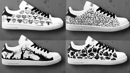 Look Down Hand Painted Stan Smith Adidas
