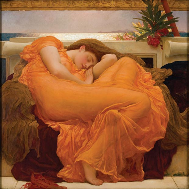 Frederick Leighton Flaming June painting