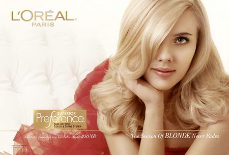 Scarlett Johansson Dream in Blonde L'Oreal 2008