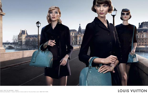 Louis Vuitton Alma bag blue Paris ad campaign