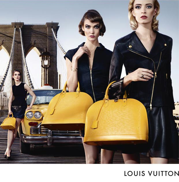 Louis Vuitton Alma bag Yellow NY Ad Campaign
