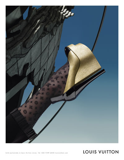 Louis Vuitton Fall Winter 2008 2009 Ad Campaign with Eva Herzigova Shoes Detail