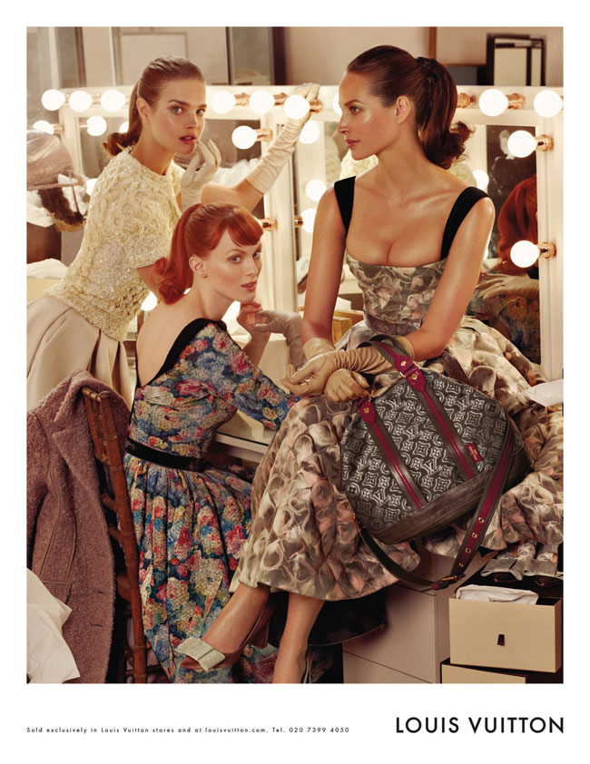 Christy, Karen, Natalia For Louis Vuitton Fall 2010 Ad Campaign