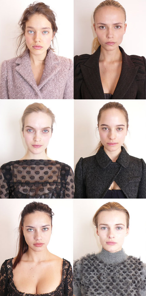 Models Before The Louis Vuitton Fall Winter 2010 Fashion Show. Reality Vs Catwalk