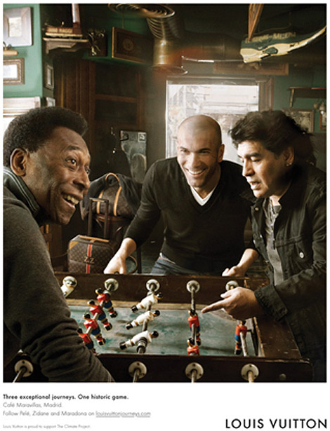Louis Vuitton Journeys Pele Maradona Zidane ad campaign